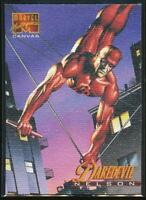 1995 Marvel Masterpieces Canvas Trading Card #5 Daredevil