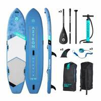 """Aztron NEBULA 2 person Inflatable SUP Board 12'10"""" w/ 2 Adjustable Paddles"""
