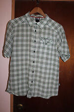 North Face Light Green Men's Plaid Short Sleeve Button Front Shirt Size Medium