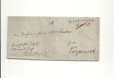 Pr Vor / WITTSTOCK 15 MART, L2 auf Just.-S.-Brief m. Btm.-Uschr. 1841