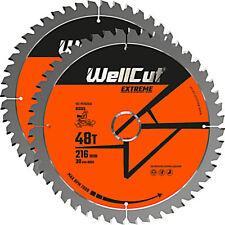 WellCut TCT Lame Scie 216 mm x 48 T X 30 mm alésage pour GCM800, GCM8SJL Pack de 2