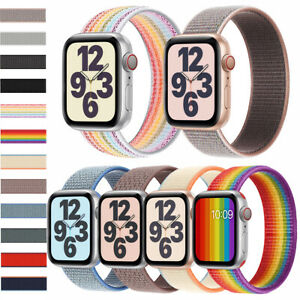Braided Nylon Loop Replace Strap Smart Watch Sport Band For iWatch Series 6 5 43
