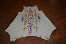 A9- Moa Moa Girls Sleeveless Polyester Top Size L