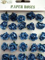 Adhesive Dark Blue Paper Roses Flowers Card Making NEW