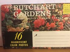 The Butchart Gardens, Victoria, Bc Canada Souvenir Post Card Picture Book