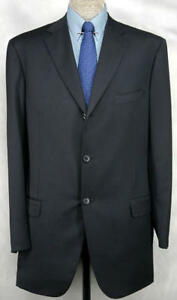 ©¿©¬EXECLLENT_NWT_$352O ISAIA HAND_TAILORED_SUPER 130s_JET_BLACK 45L-46L 12338
