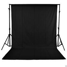 Studio Sfondo Nero 10X 10 FT (ca. 3.05 m)/3 x 3 M Photo Studio 100% puro di mussola collapsibl