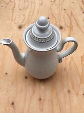 Denby Rare MEDICI Tall Footed 2.5pint White Vintage Coffee Pot Perfect Condition