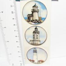 DOLLHOUSE 4 Plates Sailing Ships Lg Round CDD215 By Barb Wall Art Miniature