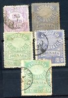 BRAZIL 5 DIFFERENT JOURNAL STAMPS, VF
