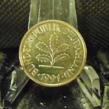 CIRCULATED 1991D 5 PFENNIG GERMAN COIN (90718)1.....FREE DOMESTIC SHIPPING!!!!