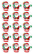 15 Christmas Santa Edible Icing Cupcake Cup Cake Toppers Decoration Images Party