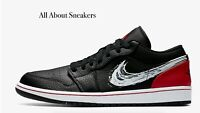 "Air Jordan 1 Low SE ""Black/University Re"" Men's Trainers Limited Stock All Sizes"