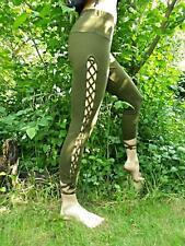 Leggings con cordones laterales, Festival, Psy Trance, hippie, Pixie.