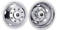 "17"" Dodge Ram 3500 Dually Wheel Simulators Hubcaps 2012-2018 bolt on stainless"