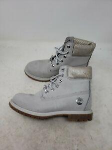 """Timberland Women's 6"""" Gray Boots A1UWF Size 8 U591"""