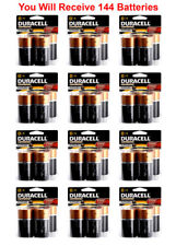 144x Duracell Size D Battery 1.5V D4 Coppertop Alkaline LR20 FRESH USA, 36xD4