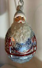 Patricia Breen Ornament 2300Gump, Bay City Santa, bejeweled, commissioned design