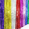 2M/3M Shimmer Foil Glitter Tinsel  Backdrop Curtain Birthday Party Decor