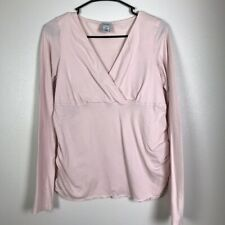 Old Navy Maternity V Neck Long Sleeve Top Size M Light Pink P23