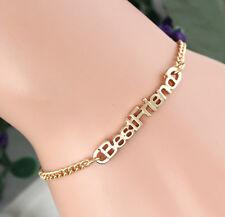 Hot Cute Best Friend Sisters Gift Partners in Crime Heart Bracelet Chain Jewelry