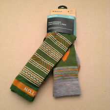 Burton Snowboard Ski Performance Lightweight 2-Pack Socks Large Clover