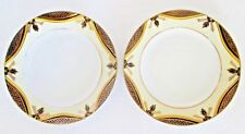 "Vintage Noritake Black, Yellow, and Gold Dishes 6 1/2"" 2 pieces"