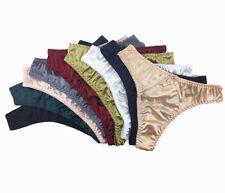42fa0a5184e 3 Or 5 Pcs Lot Women s Sexy Satin G-string Thongs Panties Fashion Underwear