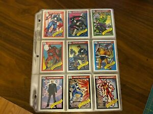 1990 Marvel Universe Series 1 Trading Cards COMPLETE BASE SET #1-162 Impel