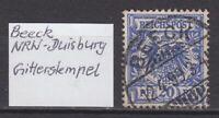 """DR - Stempel """"BEECK"""" (NRW - Duisburg), 12.4.99 auf DR - bitte ansehen !!!"""