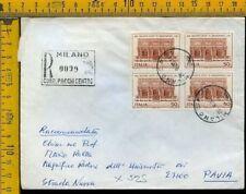 Repubblica francobollo commemorativo  quartina X 525