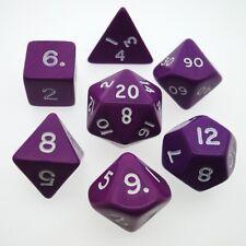 Boite de 7 Dés Opaque Violet *Dice Set*