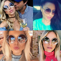 Fashion Cat Eye Sunglasses Womens Retro Rhinestones Shades Oversized Designer AY