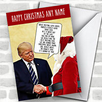 Donald Trump Meets Santa Funny Joke Personalized Christmas Card