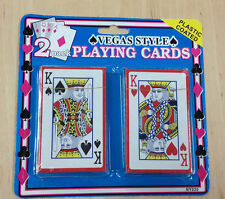 Playing Cards 2 Pack Vegas Style Casino Camping Kiling time Plane Train Bus BOB