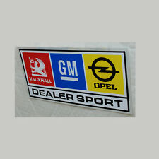 Ascona Manta Sticker Decal 150 mm w revendeur sport GM Vauxhall Opel Chevette HSR