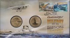 Australia Stamps PNC 2014 Centenary Military Aviation & Submarines Army Navy War