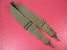 WWII US Army Canvas Utility Musette Bag Strap OD Green Color w/Snap Hooks - #1