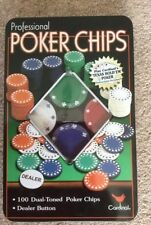 Professional poker chips, 100 chips