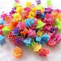 25pcs Mixed Color Plastic Butterfly Mini Hair Claw For Kids Clips Clamp R9I8