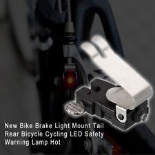 Bike Brake Light Mount Tail Rear Bicycle Cycling LED Safety Warning Lamp useful