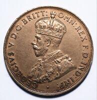 1923 Australia One 1 Penny - George V (High Grade) - Lot 635