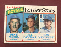 1980 Topps Future Stars Martin, Paschall, Quisenberry RC #667