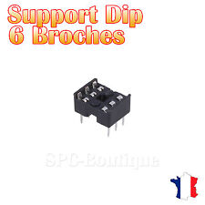 10x Support DIP 6 Broches pour Circuit Intégré