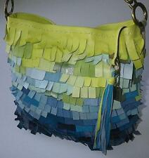 Coach Limited Edition Legacy Ocean Fish Scale Fringed Duffle Tote Bag Purse RARE