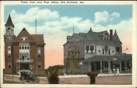 Old Orchard Beach ME Town Hall & Post Office c1920 Postcard