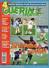 GUERIN SPORTIVO-1996 n.29- ARRIVANO I NOSTRI!-LIPPI-BAGGIO-NO POSTER