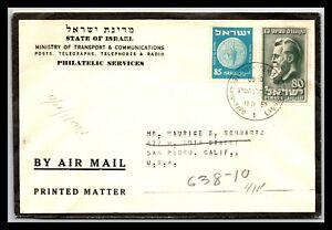 GP GOLDPATH: ISRAEL COVER 1952 AIR MAIL _CV699_P08