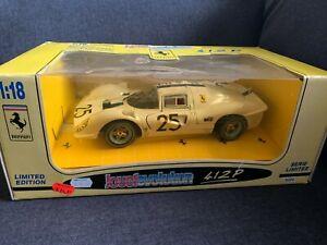 1967 White Ferrari 412 P NART #25 Jouef Evolution 1:18 Diecast NIB RARE
