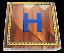 Letter H Tangram wood brain teaser Puzzle